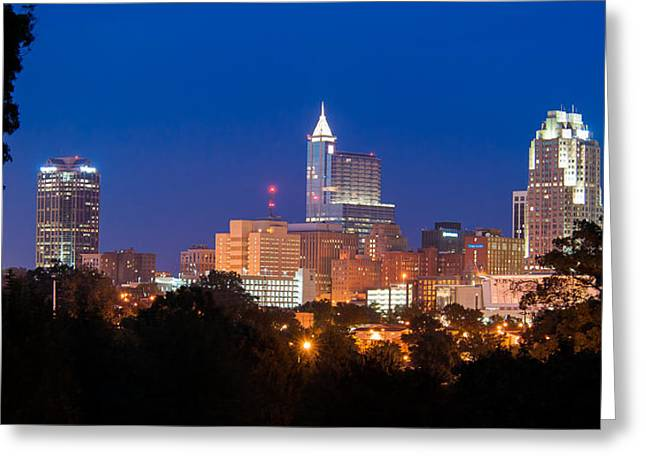 Raleigh Skyline Greeting Card