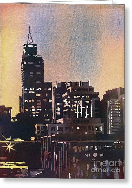 Raleigh Skyscrapers Greeting Card by Ryan Fox