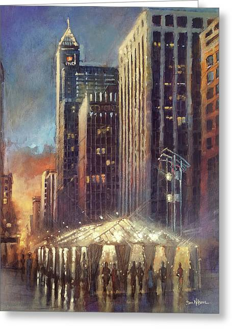 Raleigh With Symphony Tent Greeting Card