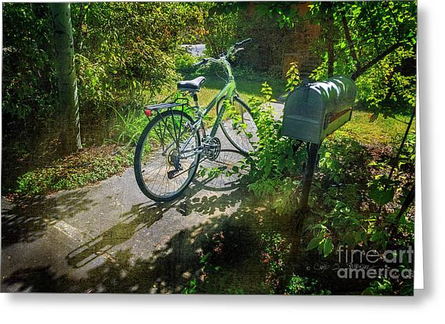 Greeting Card featuring the photograph Raleio Bicycle by Craig J Satterlee