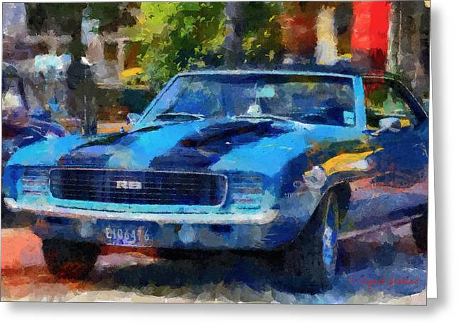 Rally Sport Greeting Card by Lynne Jenkins