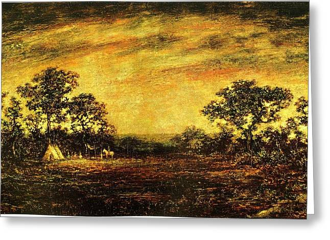 Ralph Blakelock, Indian Encampment Greeting Card