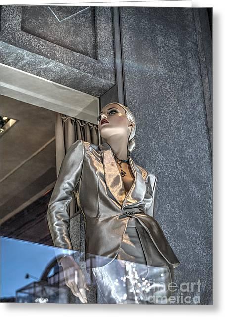 Ralph Lauren Mannequin Beverly Hills Greeting Card by David Zanzinger