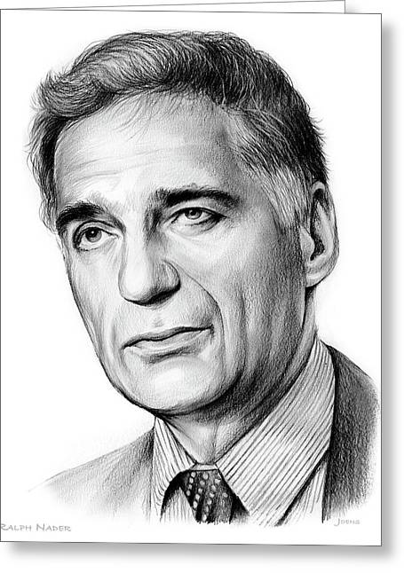 Ralph Nader Greeting Card by Greg Joens