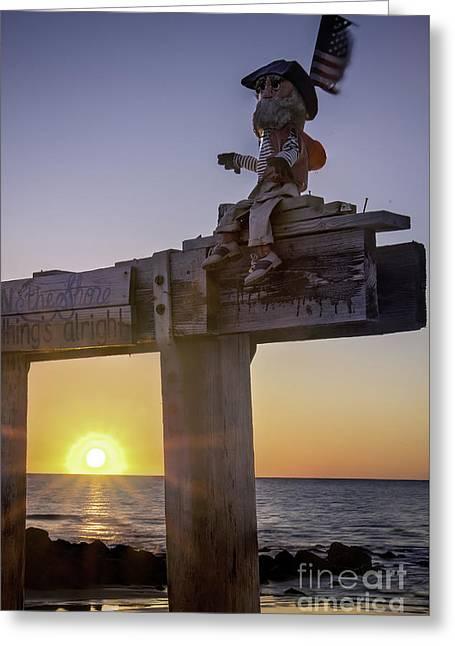 Ralph Sunrise Greeting Card by Lucy Raos