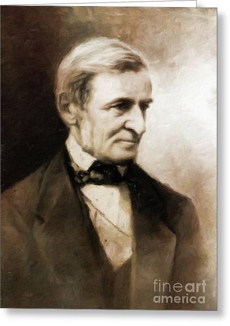 Ralph Waldo Emerson, Literary Legend By Mary Bassett Greeting Card