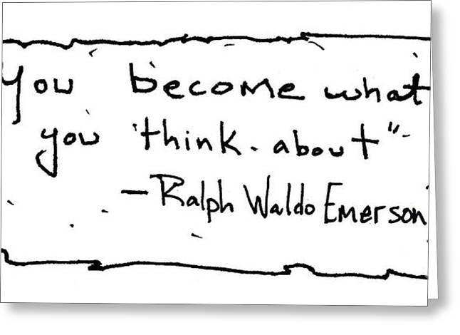Ralph Waldo Emerson Greeting Card