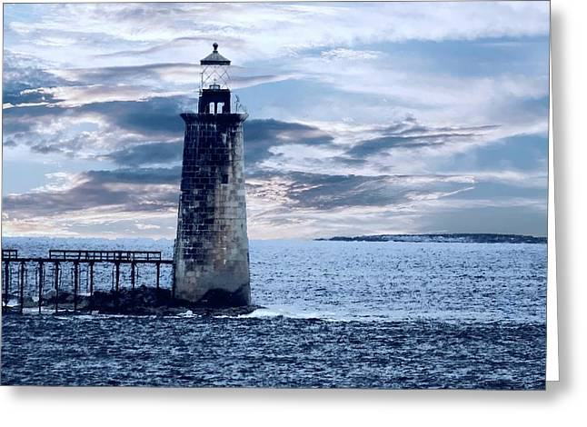 Ram Island Head Lighthouse.jpg Greeting Card