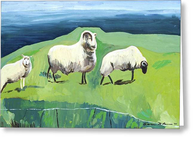 Ram On A Hill Greeting Card
