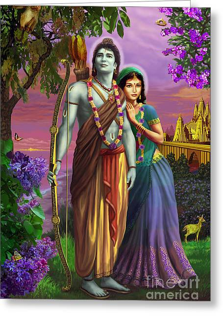 Rama And Sita  Greeting Card