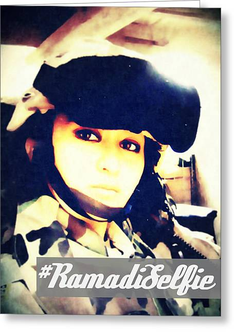 Ramadi Selfie Greeting Card by Michelle Dallocchio