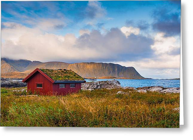 Greeting Card featuring the photograph Ramberg Hut by James Billings