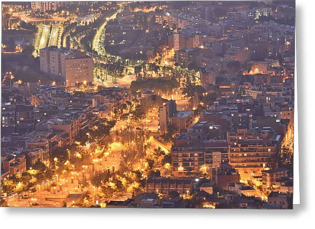 Rambla Del Carmel Barcelona Spain Greeting Card by Marek Stepan
