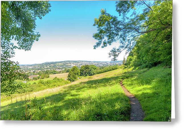 Rambling The The Cotswold Way Greeting Card