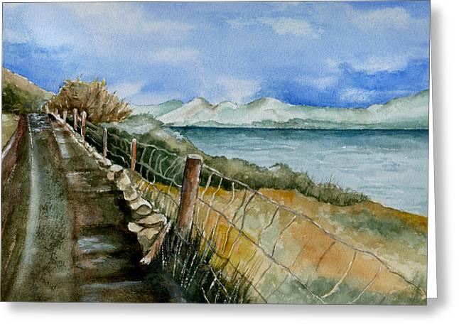 Rambling Walk Greeting Card by Brenda Owen
