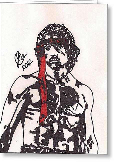 Rambo First Blood Part II Greeting Card by Jeremiah Colley