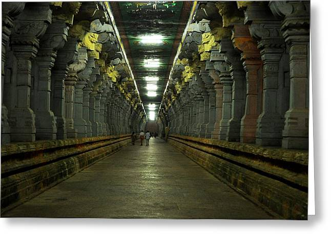 Rameshwaram Temple India Greeting Card