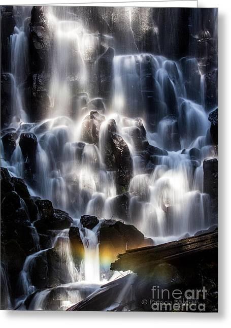 Ramona Falls With Rainbow Greeting Card