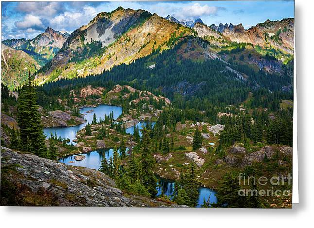 Rampart Lakes Greeting Card