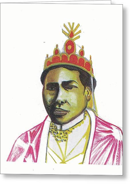 Ranavalona II Greeting Card by Emmanuel Baliyanga