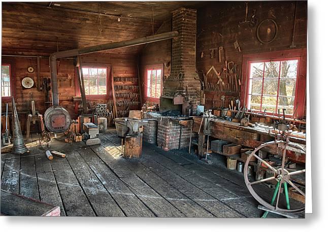 Ranch Blacksmith Shop Greeting Card
