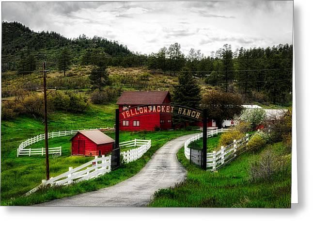 Ranch Entrance In Colorado Greeting Card by Mountain Dreams
