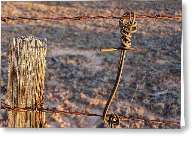 The Old Ranch Fence Greeting Card