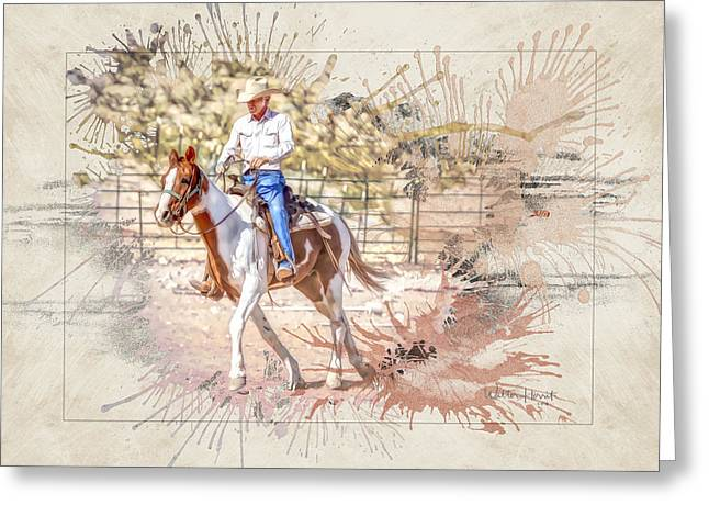 Ranch Rider Digital Art-b1 Greeting Card