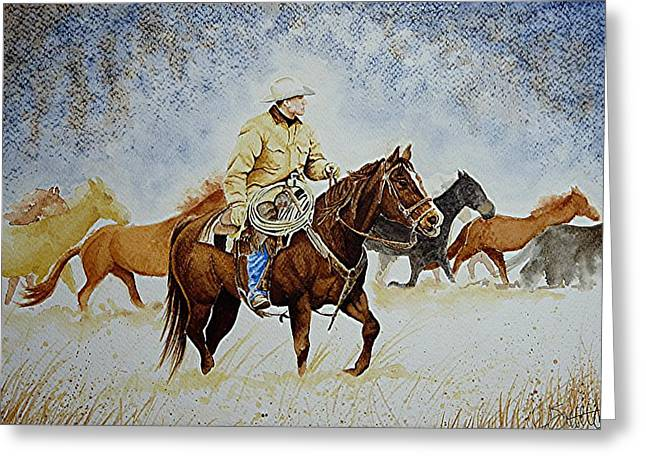 Ranch Rider Greeting Card by Jimmy Smith