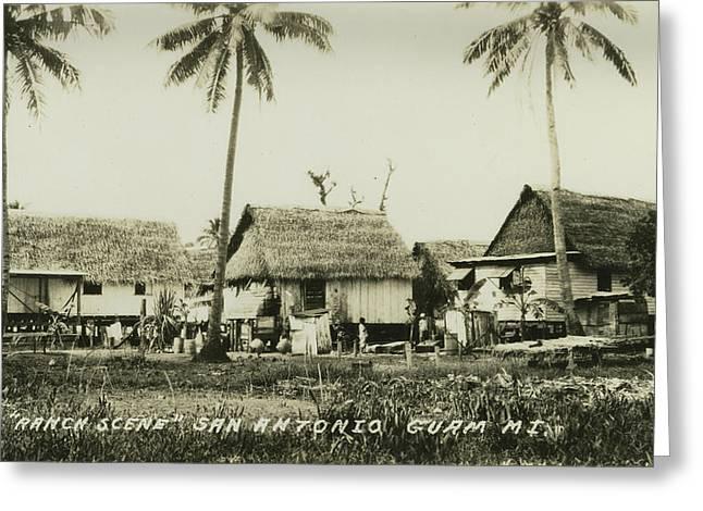 Ranch Scene San Antonio Guam Greeting Card