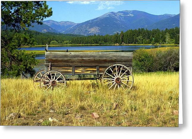 Ranch Wagon 3 Greeting Card by Marty Koch