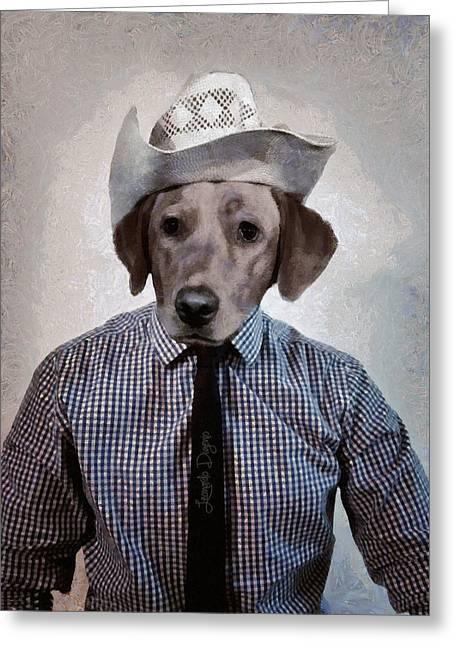 Rancher Dog - Da Greeting Card by Leonardo Digenio