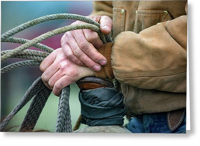 Ranching Hands Greeting Card by Todd Klassy