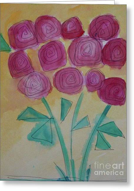 Greeting Card featuring the painting Randi's Roses by Kim Nelson