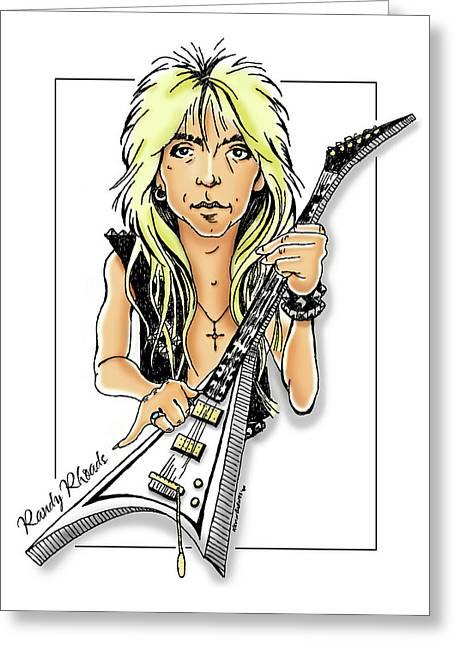 Randy Rhoads Caricature Greeting Card