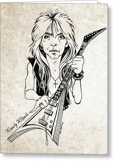 Randy Rhoads Greeting Card