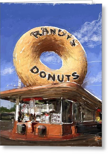 Randy's Donuts Greeting Card