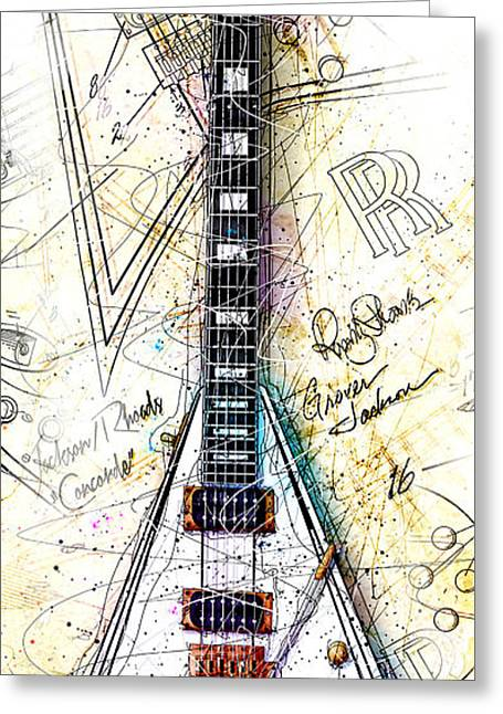 Randy's Guitar Vert 1a Greeting Card