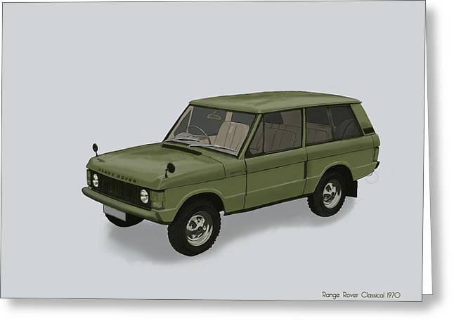 Greeting Card featuring the mixed media Range Rover Classical 1970 by TortureLord Art