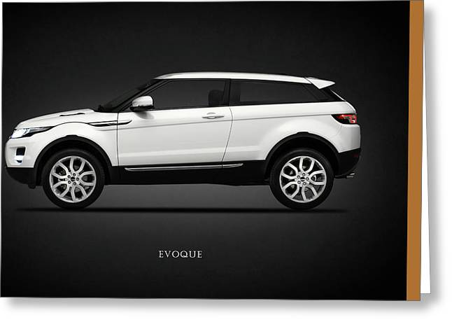 Range Rover Evoque Greeting Card by Mark Rogan