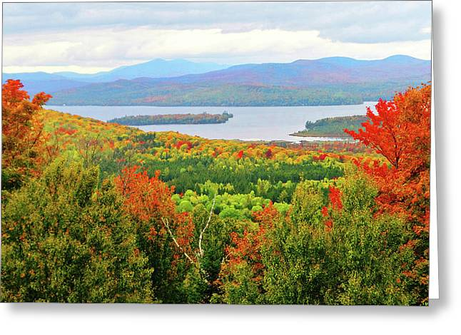 Rangeley Lake And Rangeley Plantation Greeting Card