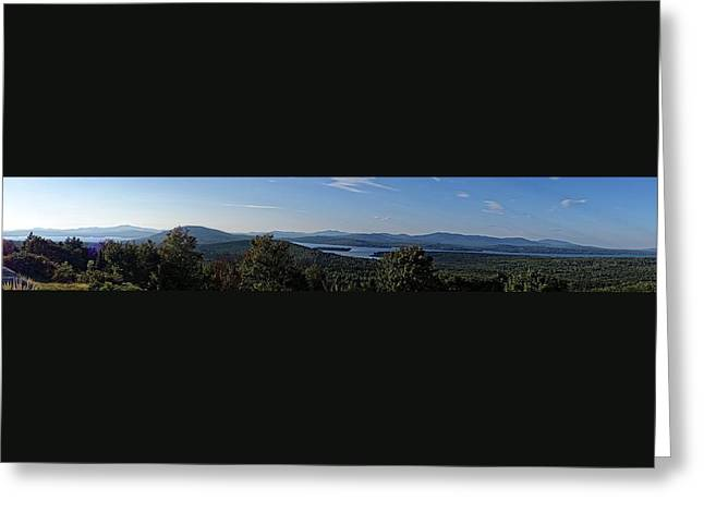 Rangeley Lake Sunset Panoramic Greeting Card