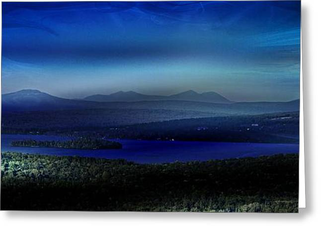 Rangeley Magic Sunset Greeting Card