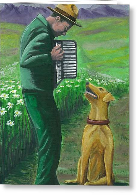 Greeting Card featuring the painting Ranger Rick by Gail Finn
