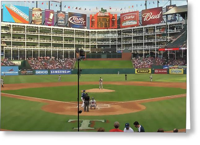 Rangers Ballpark In Arlington Greeting Card by Doug Vance