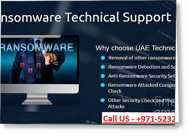 Ransomware Support Services In Dubai, Uae Greeting Card