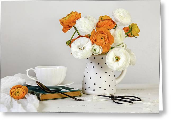 Greeting Card featuring the photograph Ranunculus Bouquet by Kim Hojnacki