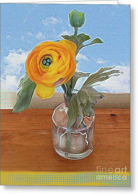 Ranunculus Spring Greeting Card by Alexis Rotella