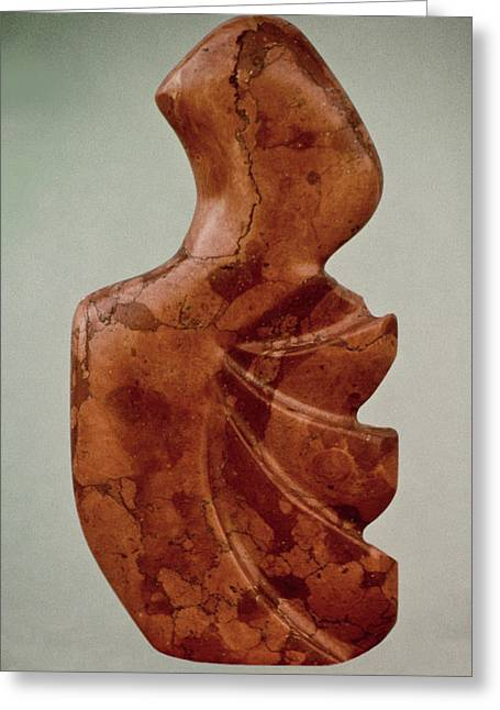 Abstract Forms Sculptures Greeting Cards - Rapa Nua Greeting Card by Lonnie Tapia