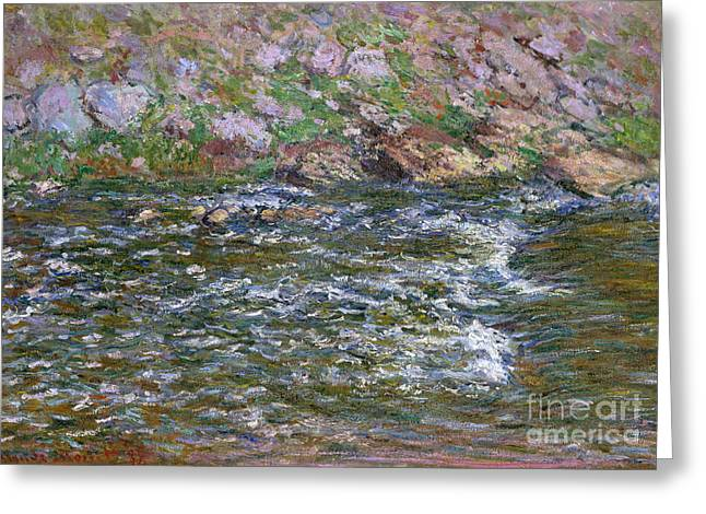 Rapids On The Petite Creuse At Fresselines, 1889 Greeting Card by Claude Monet